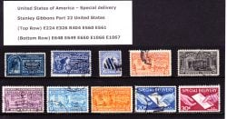 United States Special Delivery Stamps 1888 to 1954